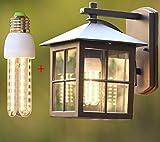 ZHAS Einfache europäische Wandleuchte Outdoor Tor wasserdichte Outdoor Garten Teehaus chinesisches Hotel Antik, Quadrat Net Lampe +9 W-Glühlampe
