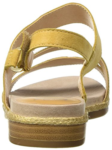Caprice Damen 28105 Offene Sandalen mit Keilabsatz Gelb (SAFFRON RE.COM)