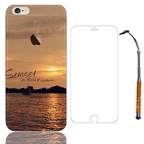 """Sunroyal® Coque Etui Transparente iPhone 6 Plus/6S Plus (5.5"""") Neuf Mince Ultra Fine Housse TPU Silicone Flex Case Cover Soft Gel Cas pour Apple 6 Plus/6S Plus 5.5 pouces 16/64/128 Go (Wifi/3G/4G/LTE) Pattern 02"""