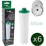 6 x FilterLogic CFL-802B - cartouche filtrante remplace JURA Claris BLUE 71311 / 71312 / 67007 et Claris ENA pour machine automatique à café / machine espresso - filtre à eau Claris bleu