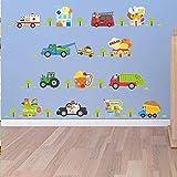 Enfants s chambre garçon décoration voiture stickers muraux chambre mur pâte maternelle art mural