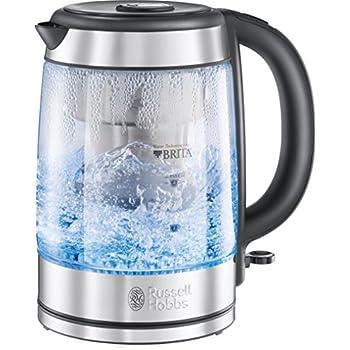 BRITA®WASSERFILTERKOCHER , Wasserkocher, Edelstahl/ Glas