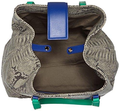 CavalliLarge shopping bag Luxe Cruise 003 - Borsa shopper Donna Multicolore (Mehrfarbig (Royal Blue/Green F64))