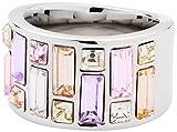 JEWELS BY LEONARDO Damen Ring Elba Edelstahl/silberfarben Glas mehrfarbig  gold rosa flieder Ringgröߟe 57 (18.1) 016523