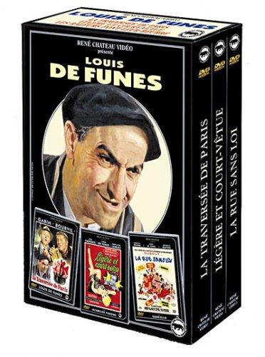 Bild von Coffret Louis de Funes 3 DVD : Rue sans loi / Légère et court vêtue / La traversée de Paris [FR Import]