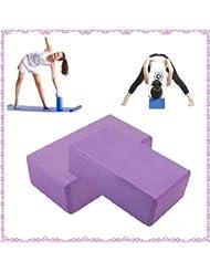 2 x Brique Bloc de Yoga Gymnastique Mousse Légère Exercices Relaxation Neuf UK