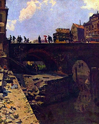 Das Museum Outlet-Brücke in einem französischen City von Lepine-Poster (61x 45,7cm)