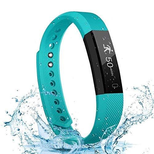 Activity Tracker, schlanke Wasserdichte Fitness Tracker-Uhr mit Schrittzähler Kalorien und Schlafmonitor, Schrittzähler Armband Smart Watch für Kinder, Frauen, Männer