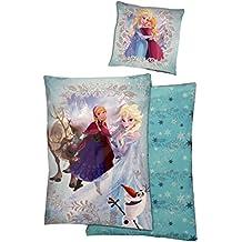 Disney Frozen Frozen de niños Juego de cama (140x 200cm y 70x 90cm), color turquesa