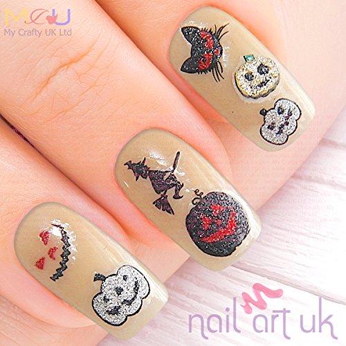 Halloween paillettes adhésifs autocollants pour nail art- citrouille