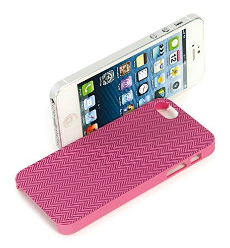 Tucano Spigato Case weiß für Apple iPhone 5/5S fucsia