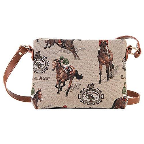Signare sac de messager sac porté-croisé d'épaule tapisserie mode femme Course