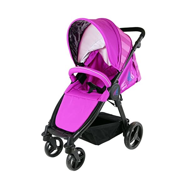 Sail Stroller - Plum Includes Bumper Bar Rain Cover Bootcover Sail Seamless Ride, High Built Quality, Amazing Features Media Viewing Tablet Pocket + One Hand Fold Away Extendable Hood, Provides Additional Shade And Privacy 4