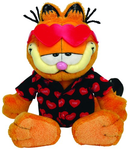 Click for larger image of Ty UK Beanie Baby Happy Valentines Garfield