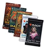 Magic the Gathering MTG Welcome Geschenk Set - 5 Booster Pack Coreset M19 Dominaria Rivals Ixalan und Hour of Devastation - Englisch