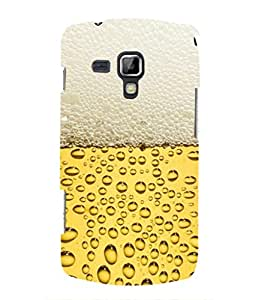 For Samsung Galaxy S Duos 2 S7582 -Livingfill- Freshly poured beer Printed Designer Slim Light Weight Cover Case For Samsung Galaxy S Duos 2 S7582 (A Beautiful One of the Best Design with a Classic Theme & A Stylish, Trendy and Premium Appeal/Quality) (Red & Green & Black & Yellow & Other)