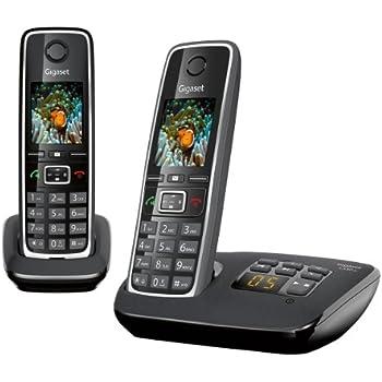 Gigaset C530A DUO Téléphone sans fil avec répondeur Noir