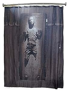 Star Wars Rideau de douche Motif Han Solo dans la carbonite