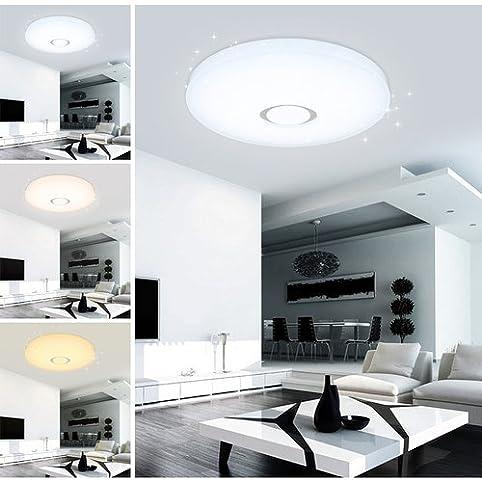 VGO® 16W LED Farbwechsel Esszimmer Deckenleuchte Modern Starlight Effekt  Wand Deckenleuchte Badezimmer Geeignet