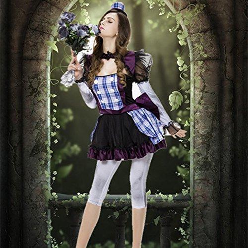 umsleistungskleidung kleidet Frauen der europäischen und amerikanischen Spiel Halloween Fee Kostüm Cosplay (Frauen Clown Kostüme)