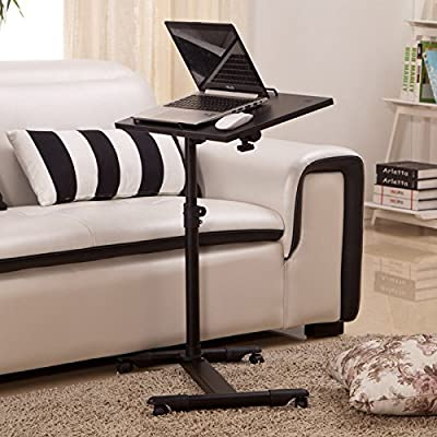 Adjustable Portable Lazy Table Desk Stand Rolling Tray Sofa Bed Stand For Laptop Computer Notebook - cheap UK light store.