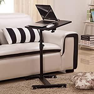 Adjustable portable lazy table desk stand rolling tray for Sofa bed amazon uk