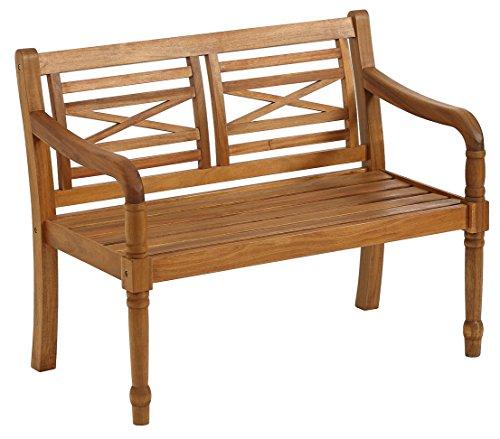 Dehner Gartenbank Canterbury, 2-Sitzer, ca. 114 x 60 x 90 cm, FSC Akazienholz, geölt, natur