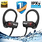 OHUMLABS™ Bluetooth Wireless Headphones with Pouch for Sports, Running or Gym Workout 2018