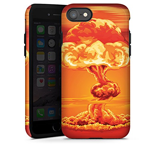 Apple iPhone X Silikon Hülle Case Schutzhülle Explosion Krieg Atompilz Tough Case glänzend