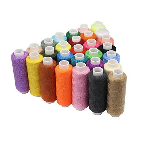selftek-30colores-hilo-de-coser-250yardas-carretes-mano-polister-hilo