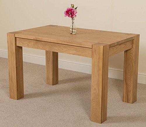 kuba chunky solid oak 125 x 80 x 77 cm dining room kitchen table