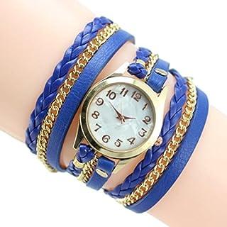 Arpoador 2016Hot New Colorful Frauen Weave Wrap Stift Armband Handgelenk Uhren