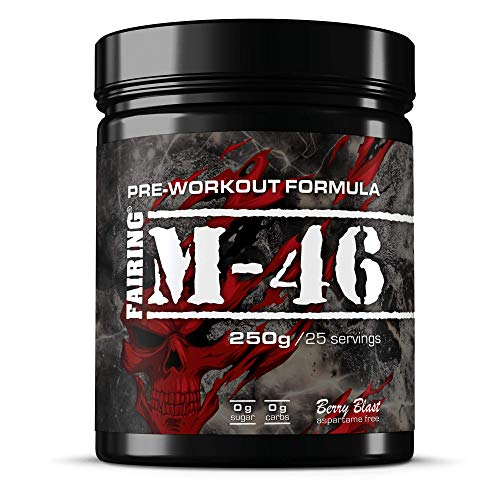 51QWHQEq3YL. SS500  - M-46 Pre Workout and Nitric Oxide Pump Powder Drink - Vegan Formula with Creatine Malate, Beta-Alanine, L-tyrosine, Caffeine for Gym Muscle Performance 250 Grams