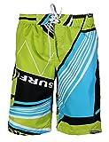 APTRO® Herren Relax Slim Fit Mehrfarbig Freizeit Shorts Casual Mode Urlaub Strand Shorts 1521 DE 2XL (AIS 3XL) Grün