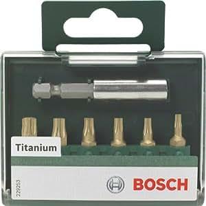 Bosch 2609255983 Jeu d'embouts de vissage Titane 25 mm 7 pièces