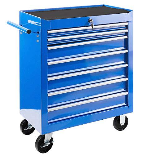 JOMAFA - Carro de taller para herramientas 7 cajones, armario mecanico con ruedas