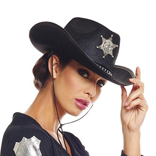 AEC-chapeau de Sheriff disfraz, unisex adulto, aq04721, Negro, talla única