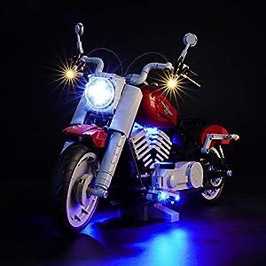 BRIKSMAX Kit di Illuminazione a LED per Harley Davidson,Compatibile con Il Modello Lego 10269 Mattoncini da Costruzioni… Kit illuminazione LEGO