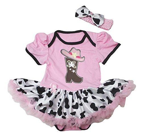 Boot Hat Pink Cotton Bodysuit Cattle Tutu Baby Dress Nb-18m (12-18monat) ()