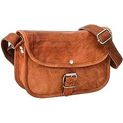 Handtasche aus Leder Gusti Leder nature 'Mary' Umhängetasche Damen Braun H19