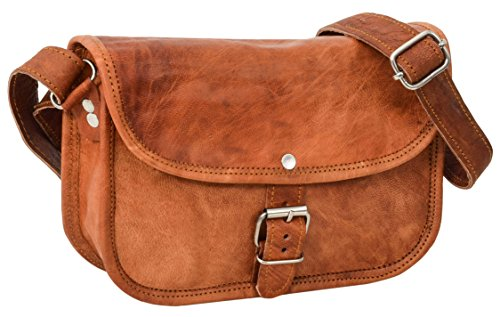 Gusti Leder nature Umhängetasche Mary M Ledertasche Damen kleine Handtasche Vintage Look -