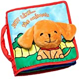OUR BEST SOFT BOOK for BABIES Fabric Activity Crinkle Cloth Books, Handmade Educ