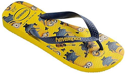 Havaianas Minions Yellow Black Womens Summer Beach Flip Flops-39