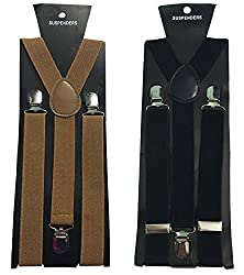 Atyourdoor Y- Back Suspenders for Men(Choco & Black Color)