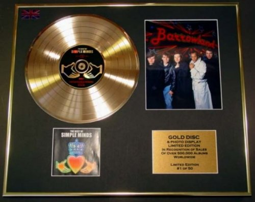 SIMPLE MINDS/CD GOLD DISC/RECORD & PHOTO DISPLAY/LTD. EDITION/COA/THE BEST OF