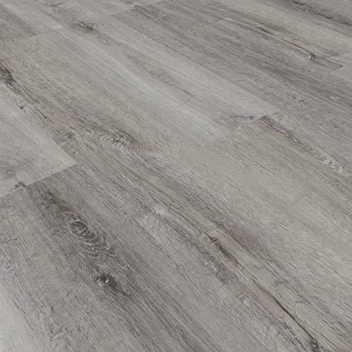 Vinylboden Klebevinyl Eiche 9917 grau Holzoptik 2,5mm Vinyl Bodenbelag fürs Bad TAMI XTR -