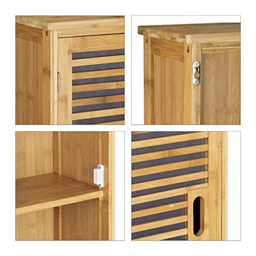 Badezimmerschrank bambus  ᐅ Relaxdays Badezimmerschrank aus Bambus - 66 x 35 x 20 cm