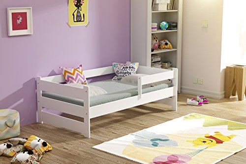 Preisvergleich Produktbild Kinderbett Jugendbett 140x70 160x80 Massivholz Moli (140x70 ohne Schublade)