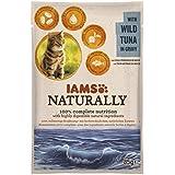 Iams Naturally Thunfisch, Nassfutter mit Thunfisch für erwachsene Katzen, Probiergröße, Einzelbeutel (1 x 85 g)