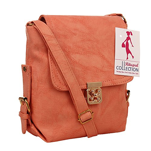 Ritupal Collection Women Shoulder, PU Sling bag (Amazing Peach)